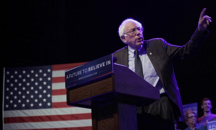 Democratic Presidential candidate Sen. Bernie Sanders (D-VT) speaks at an event March 30, 2016 in Madison, Wisconsin. Candidates are campaigning in Wisconsin ahead of the state's April 5th primary. (Photo by Darren Hauck/Getty Images)