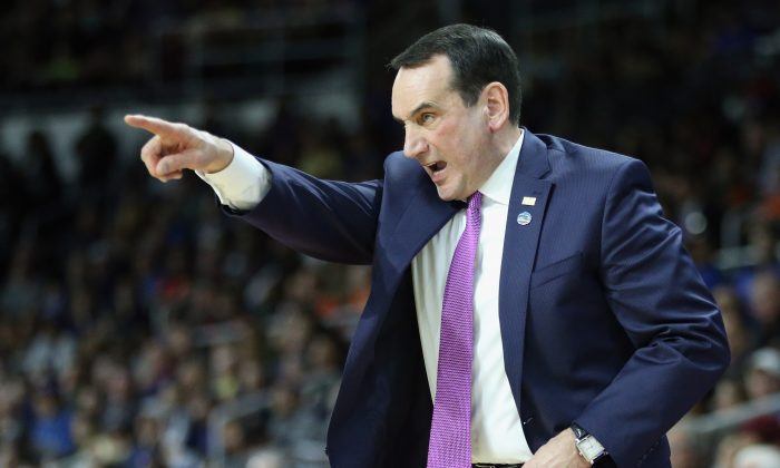 Mike Krzyzewski has led the Duke Blue Devils to 12 Final Four appearances and five National Championships. (Jim Rogash/Getty Images)