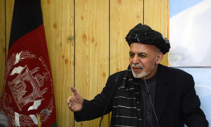 Afghan President Ashraf Ghani speaks in Kandahar on Feb. 3, 2016. (Jawed Tanveer/AFP/Getty Images)