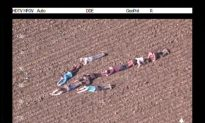 Kids Help Police Helicopter Track Down Crooks by Forming Human Arrow
