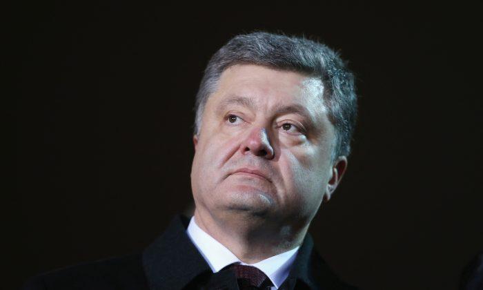 Ukrainian President Petro Porosehnko on February 20, 2015 in Kiev, Ukraine. (Photo by Sean Gallup/Getty Images)