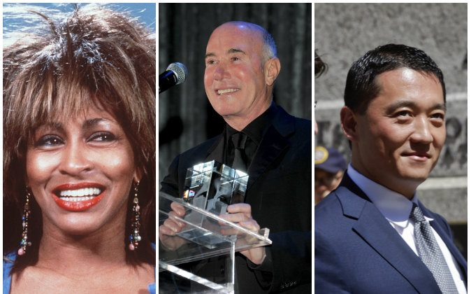 Tine Turner (1984, AP Photo); David Geffen (Photo by Larry Busacca/Getty Images); Benjamin Wey (AP Photo/Frank Franklin II)