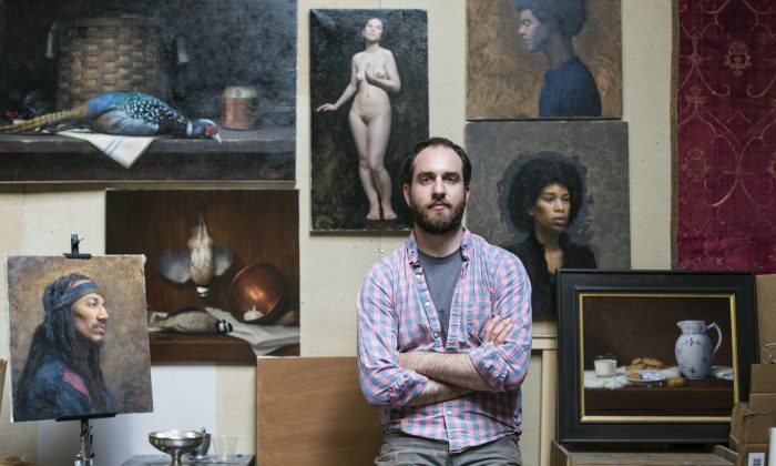 Artist Brendan Johnston at the Grand Central Atelier, where he also teaches, in Long Island City, New York on March 25, 2016. (Samira Bouaou/Epoch Times)