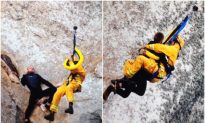 Video: Fire Department Rescues Man Who Gets Stuck After Climbing 600-Foot Rock to Propose to Girlfriend