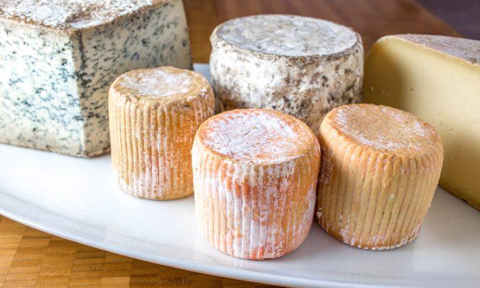 Raw milk cheeses. (Courtesy of Jessica Sennett)