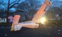 Plane Crashes in Long Island Street, Pilot and Passenger Injured