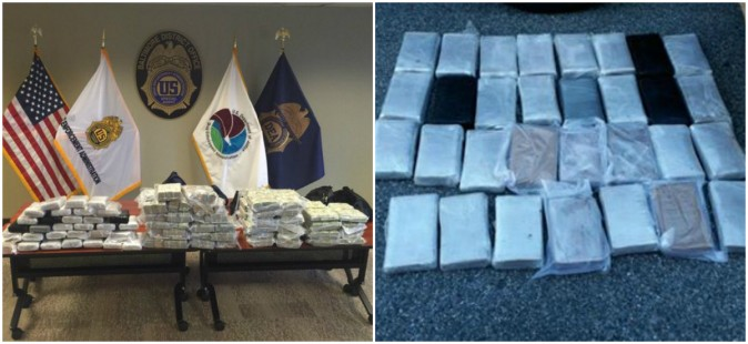 A Baltimore DEA Task Force confiscated 31 kilos of cocaine and $2.4 million in cash after an 8-month long investigation. (Baltimore DEA)