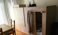 Man Who Lives in Plywood Box Gets Evicted