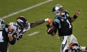 Von Miller: Broncos Linebacker Edits Himself Into Picture of Panthers Quarterback Cam Newton