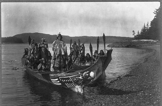 The wedding party, Qagyuhl, c1914 November 13. (Edward S. Curtis/Library of Congress)