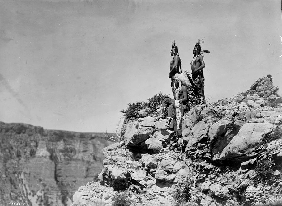 Watching the signal, c1905. (Edward S. Curtis/Library of Congress)