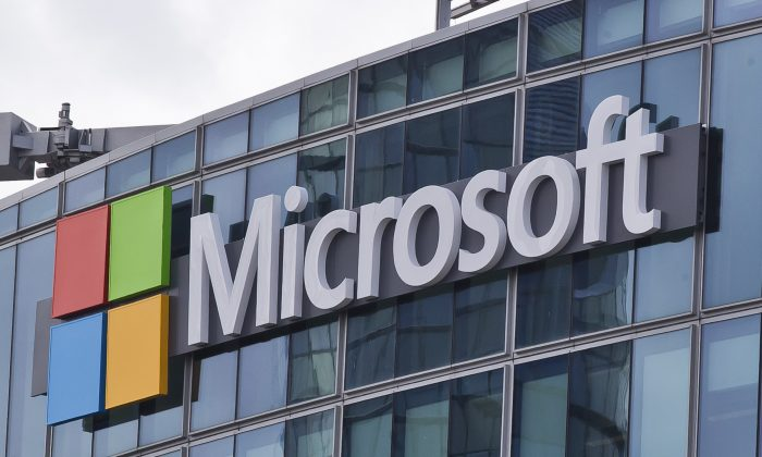 This Tuesday, April 12, 2016 file photo shows the Microsoft logo in Issy- les-Moulineaux, outside Paris, France (Michel Euler/AP Photo)