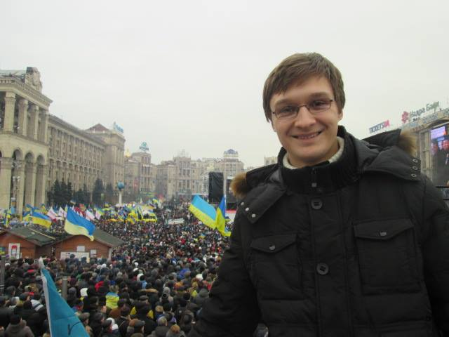 Valentyn Onyshchenko was 21 years old during the 2014 revolution; two years later he says he's disappointed with the pace of Ukraine's anti-corruption reforms. (Courtesy of Valentyn Onyshchenko)