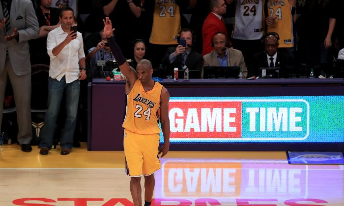 Kobe Bryant scored 60 points for the Los Angeles Lakers in his final game after 20 seasons in the league. (Sean M. Haffey/Getty Images)