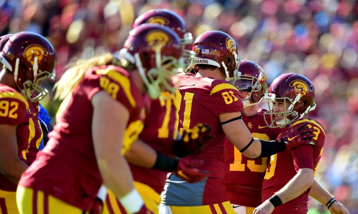 The USC Trojans will begin their first full season under Clay Helton in 2016. (Harry How/Getty Images)