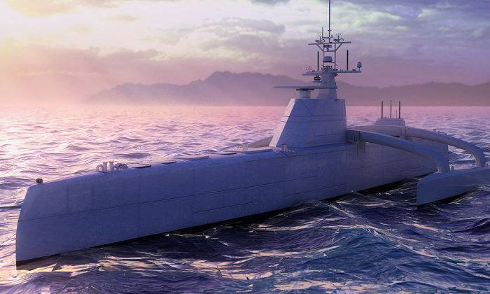 DARPA is developing an autonomous anti-submarine warfare vessel, ACTUV. (DARPA)