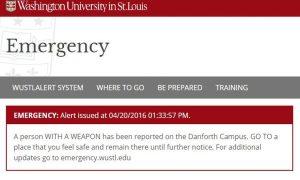 Shooting at Washington University in St. Louis; Gunman Reported