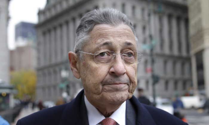 In this Tuesday, Nov. 24, 2015, file photo, former New York Assembly Speaker Sheldon Silver arrives at the courthouse in New York. Silver, who was convicted of fraud and extortion, was disbarred Tuesday, March 29, 2016, by the Appellate Division of the state Supreme Court in Manhattan. (AP Photo/Seth Wenig, File)