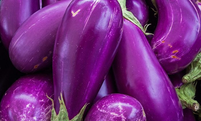 Eggplant is seen for sale at a local Farmers Market in Annandale, Virginia. (Paul J. Richards/AFP/Getty Images)