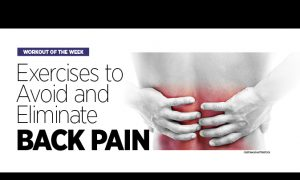 Exercises to Avoid and Eliminate Back Pain