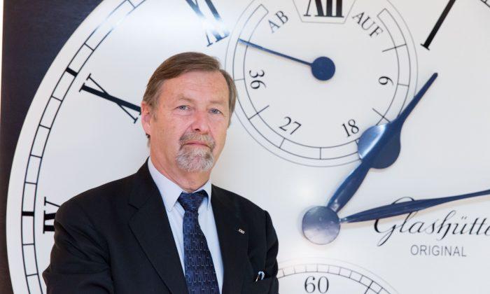 Yann Gamard, CEO of Glashütte Original/Swatch Group. (Matthias Kehrein/Epoch Times)