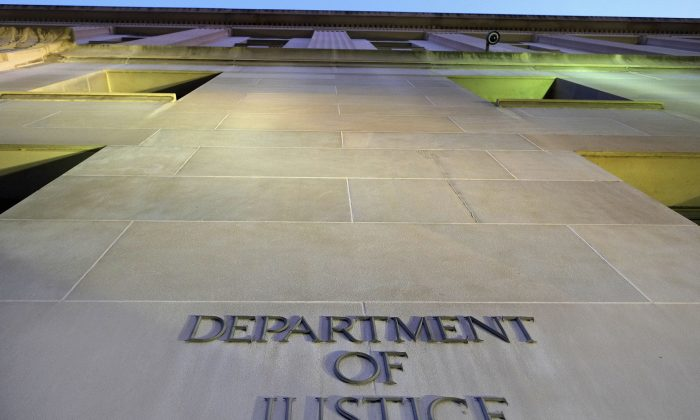 The Department of Justice headquarters building in Washington. (AP Photo/J. David Ake)