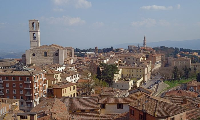 Perugia was built on a mountaintop 4,000 years ago. (Susan James).