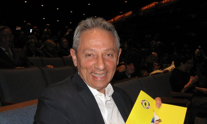 Danny Dinardo, president of Integrated Building & Design Corp., attended the Shen Yun evening performance at Toronto's Sony Centre on April 23, 2016. (Becky Zhou/Epoch Times)