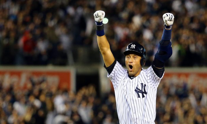 Derek Jeter of the New York Yankees won five World Series titles during his incredible career. (Al Bello/Getty Images)