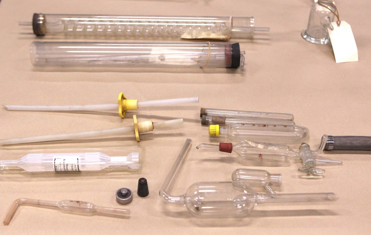A variety of crystal meth equipment that were confiscated as part of Operation Slab at the North Shore Policing Centre in Auckland, New Zealand, on Aug. 19, 2010. (Phil Walter/Getty Images)
