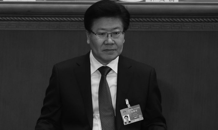 Xinjiang Party Secretary and Politburo member Zhang Chunxian attends the closing of the 3rd Session of the 12th National People's Congress at the Great Hall of the People in Beijing on March 15, 2015. A threatening open letter addressed to Party chief Xi Jinping was leaked onto a Xinjiang-based news website on March 4, 2016. (WANG ZHAO/AFP/Getty Images)