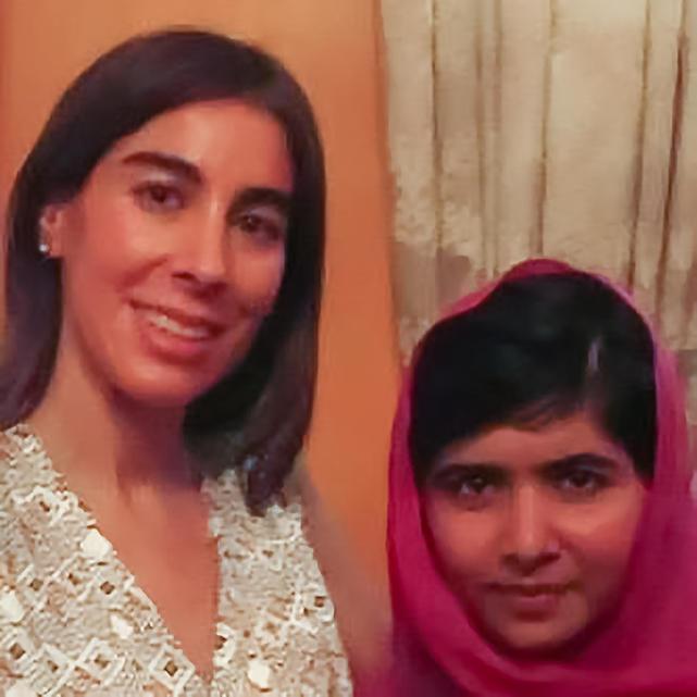 Dra. Luz Maria Utrera with Malala Yousafzai at the Pakistani ambassador's home in New York on July 13, 2013. (LuzMariaFoundation.org)