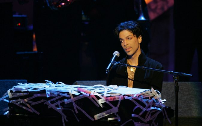Musician Prince performs on stage at the 36th NAACP Image Awards at the Dorothy Chandler Pavilion on March 19, 2005 in Los Angeles, California. (Kevin Winter/Getty Images)