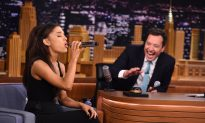 Ariana Grande and Jimmy Fallon Have Full Conversation Lip-Syncing to Popular Songs on 'The Tonight Show'