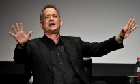 Tom Hanks Predicts Spaceships With Dinosaurs in Red Capes Before a Trump Presidency