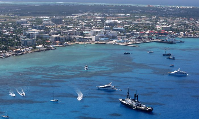 George Town pictured in Grand Cayman, Cayman Islands, on April 24, 2008. (David Rogers/Getty Images)