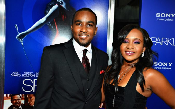 "Bobbi Kristina Brown (R) and Nick Gordon arrive at Tri-Star Pictures' 'Sparkle' premiere at Grauman's Chinese Theatre on August 16, 2012 in Hollywood, California. Gordon was found ""legally responsible"" in the death of Brown on Sept. 16. (Frazer Harrison/Getty Images)"