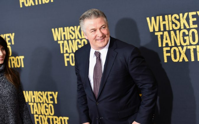 Actor Alec Baldwin attends the 'Whiskey Tango Foxtrot' world premiere at AMC Loews Lincoln Square 13 theater in New York City on March 1, 2016. (Photo by Nicholas Hunt/Getty Images)