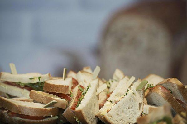 "This photo taken on April 8, in Paris, shows gluten-free sandwiches displayed during the ""Le salon des allergies alimentaires et des produit sans"" (Food Allergy and Allergy-friendly Products Show)). / AFP / Elliott VERDIER (Photo credit should read ELLIOTT VERDIER/AFP/Getty Images)"
