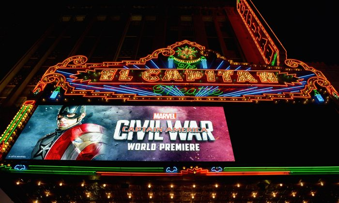 """The World Premiere of Marvel's """"Captain America: Civil War"""" at Dolby Theatre on April 12, 2016 in Los Angeles, California.  (Photo by Charley Gallay/Getty Images for Disney)"""