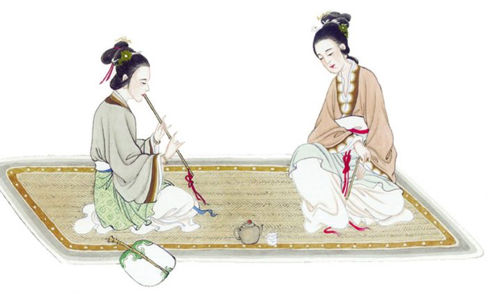 Apart from the filial piety of children, filial daughters-in-law are also respected by heaven, earth, and man. (Epoch Times}