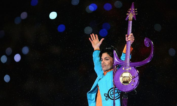 Prince, who died aged 57 on Thursday, April 21st, is pictured here performing in 2007 at Dolphin Stadium in Miami Gardens, Florida. (Jonathan Daniel/Getty Images)