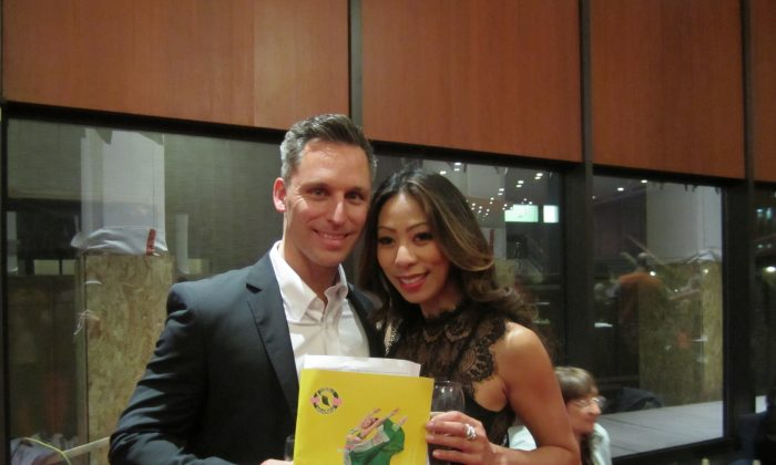 Joann Pham and Michel Parise attended Shen Yun Performing Arts at Montreal's Place des Arts on April 30, 2016. Donna He/Epoch Times)