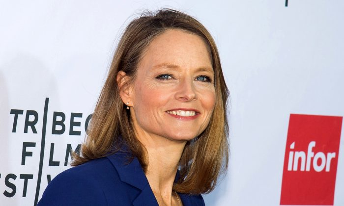 """FILE - In this April 21, 2016 file photo, Jodie Foster attends a special 40th anniversary screening of """"Taxi Driver"""" during the 2016 Tribeca Film Festival in New York. (Photo by Charles Sykes/Invision/AP, File)"""