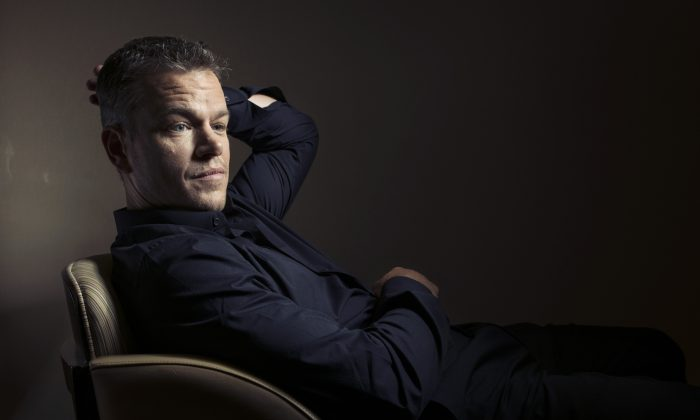 FILE - In this Sept. 11, 2015 photo, Matt Damon poses for a portrait at the 2015 Toronto International Film Festival in Toronto. (Photo by Victoria Will/Invision/AP, File)