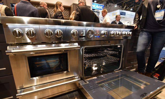 This January 2016 photo a new oven (Sam Shelanski/Karen Schwartz via AP)
