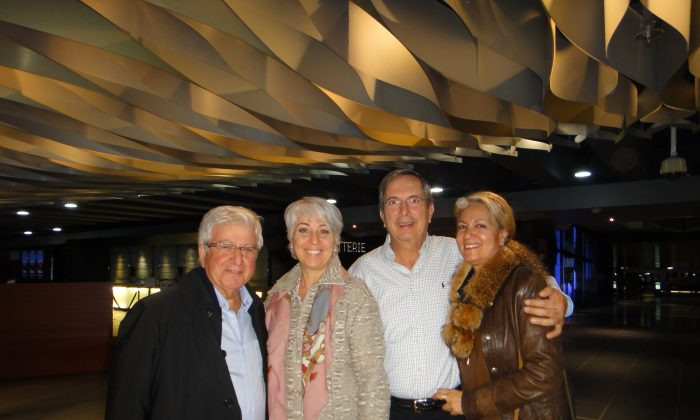 Entrepreneur Tony Arida and his wife (R) and their friends Fouad Sahyoun and his wife attended Shen Yun Performing Arts at Place des Arts on May 1, 2016 in Montreal, Canada. (Dongyu Teng/Epoch Times)