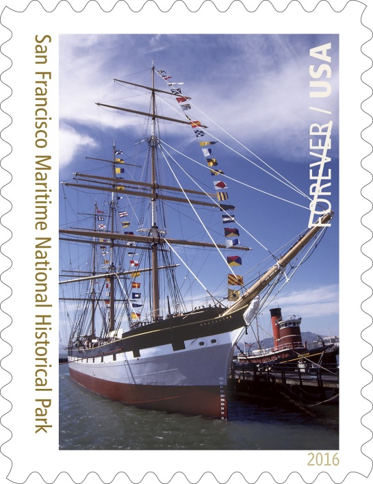 San Francisco Maritime National Historic Park, California. (Copyright© 2016 USPS)