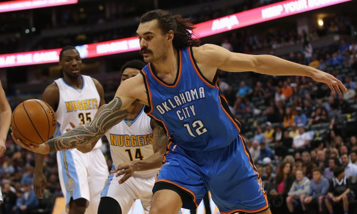 Steven Adams averaged 8.0 points and 6.7 rebounds for the Oklahoma City Thunder this past season. (Doug Pensinger/Getty Images)