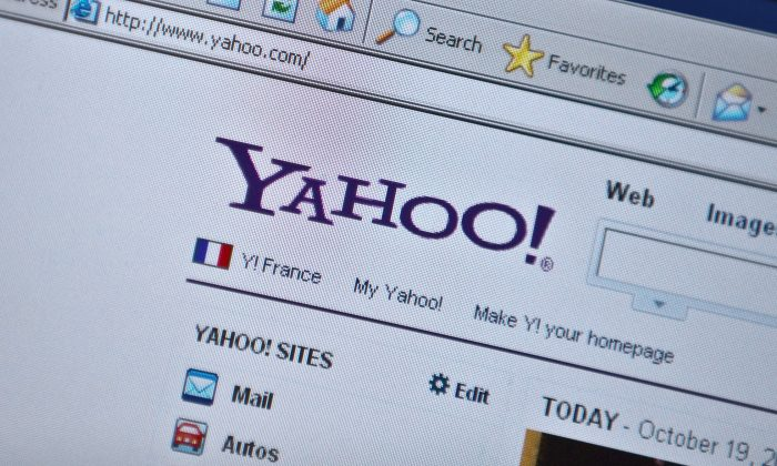 The Yahoo homepage is seen on a computer screen in Washington on October 19, 2010. (NICHOLAS KAMM/AFP/Getty Images)